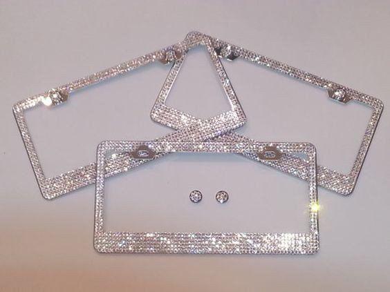 Ultra Bling Crystal License Plate Frame | Pinterest | License plate ...