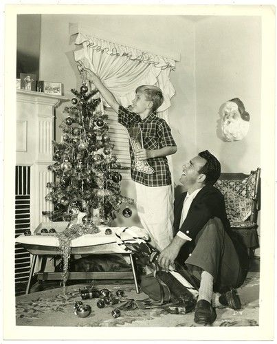 Original Old Photo Hollywood Merry Christmas