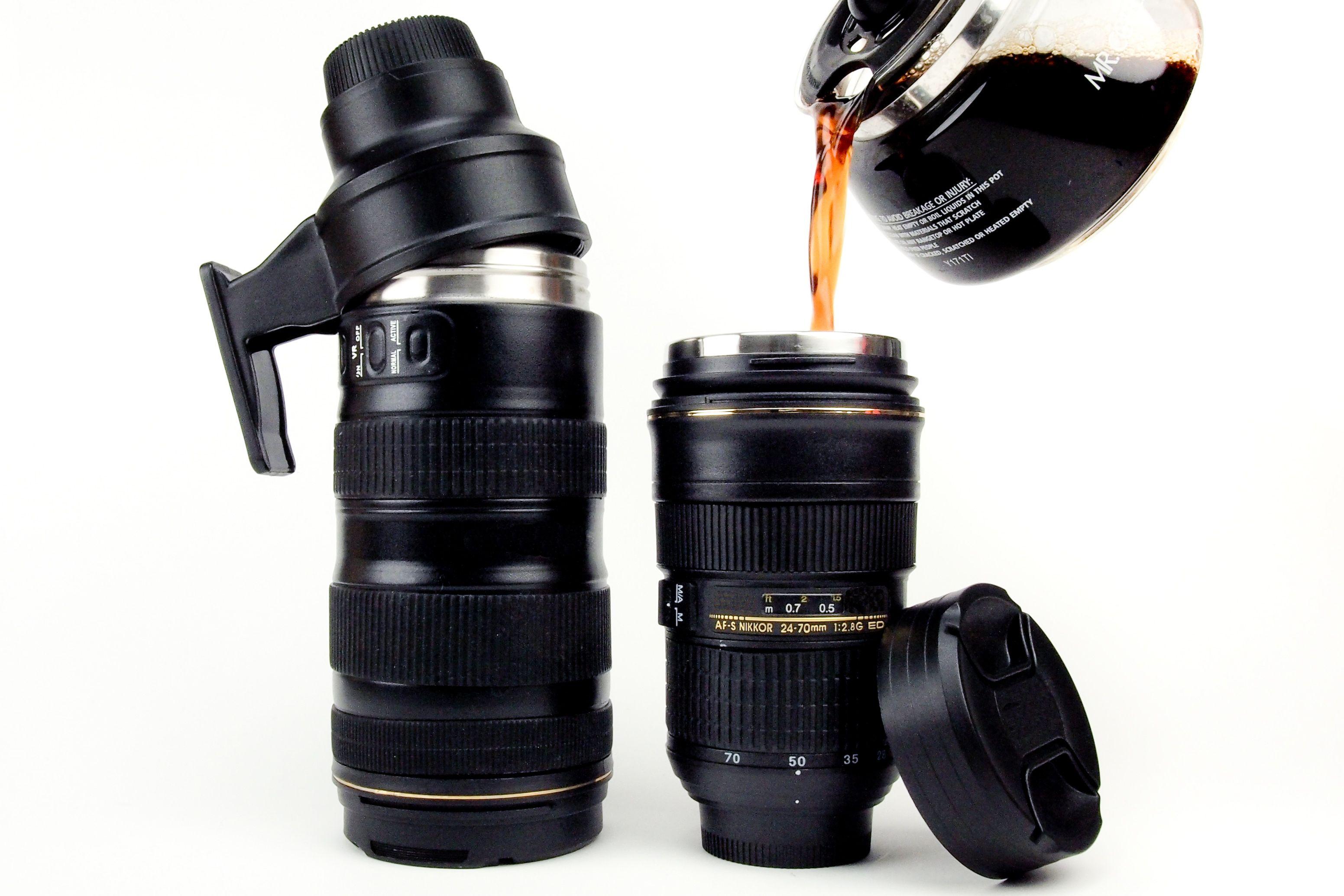 Nikon mugs - termo en forma de objetivo Nikkor. Genial idea.