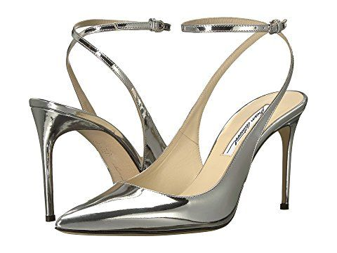 64c5283bcf5 Brian Atwood Vicky Silver Shoes