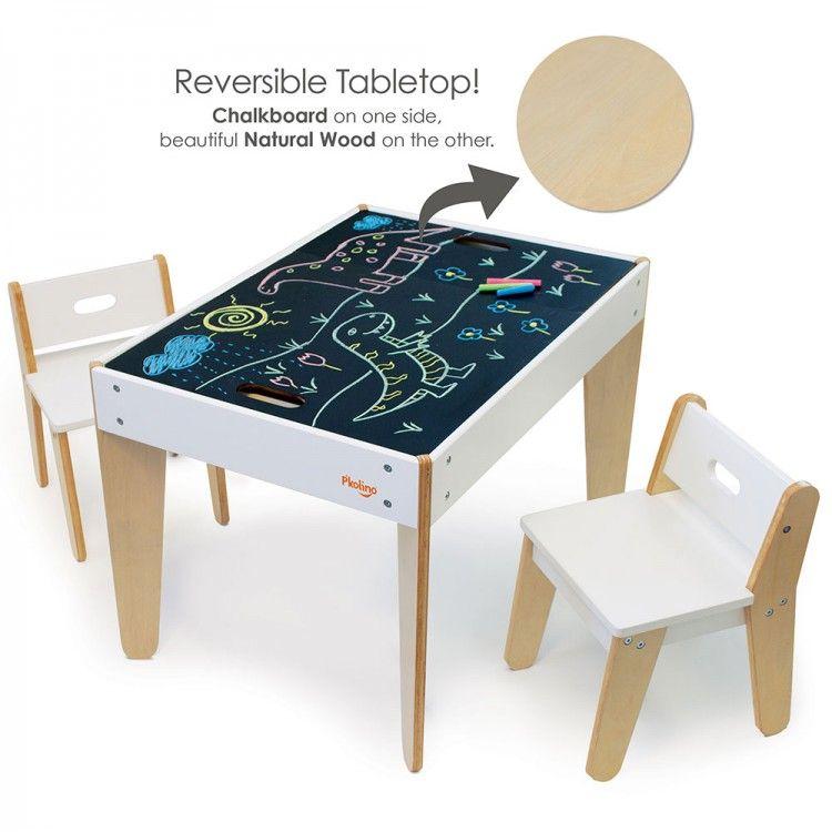 Wondrous Pkolino Little Modern Kids Table And Chairs White Creativecarmelina Interior Chair Design Creativecarmelinacom