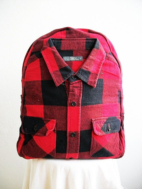 da154f5bba Backpacks Design Shirt Black And Scarlet Plaid