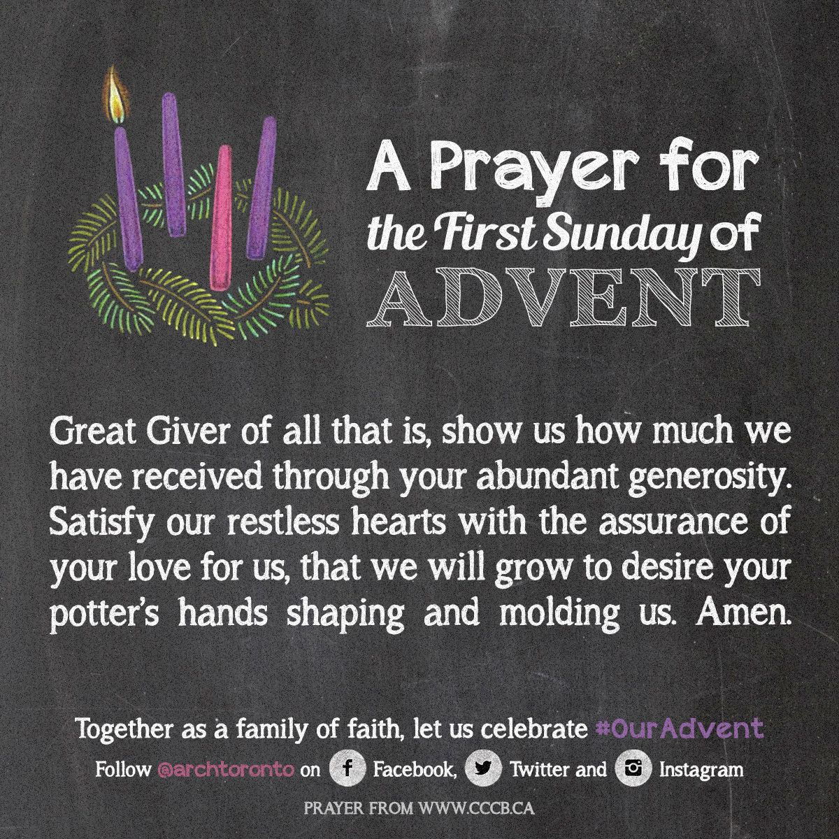 prayer for the first sunday of advent ouradvent daily. Black Bedroom Furniture Sets. Home Design Ideas