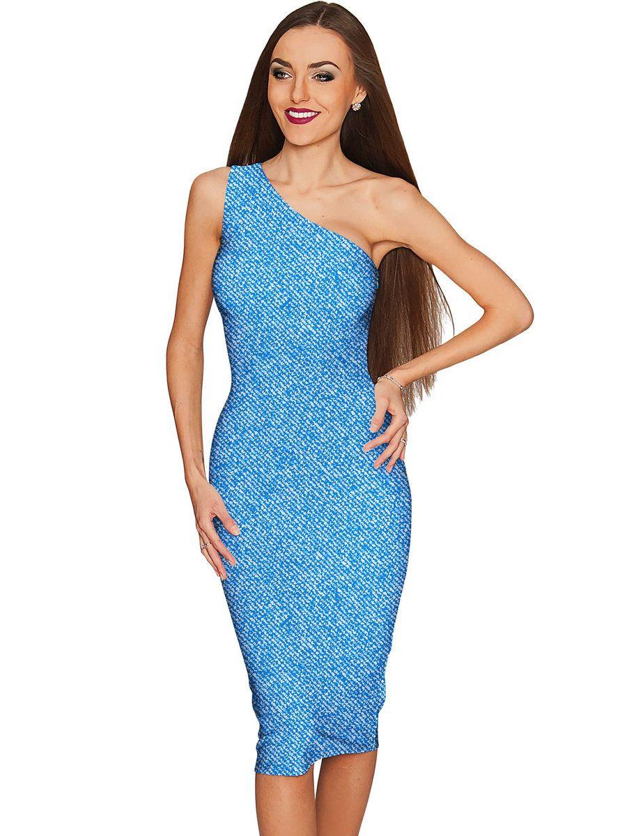 AdoreWe #StyleWe Pineapple Clothing Blue Elegant One Shoulder Party ...