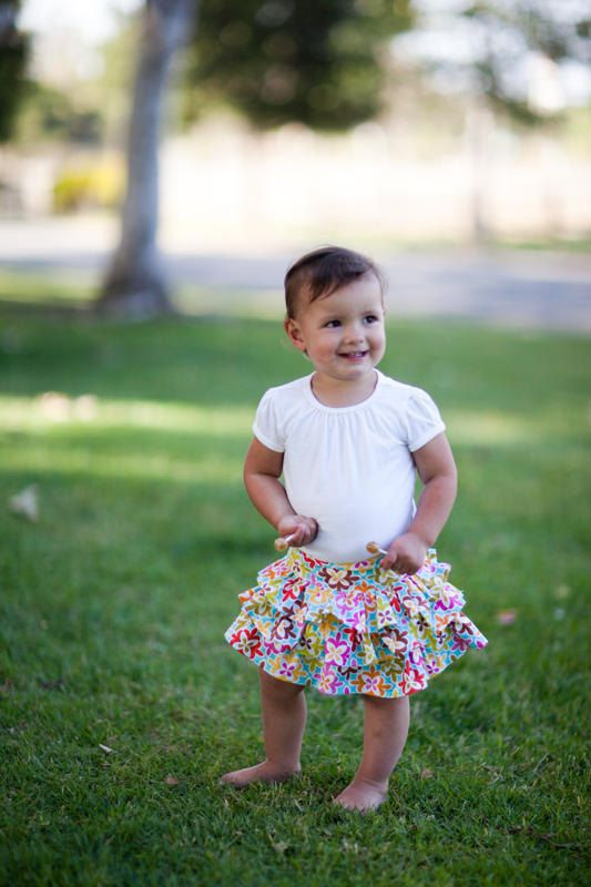 INSTANT DOWNLOAD- Flutter Skirt (Sizes 12 months to Size 8