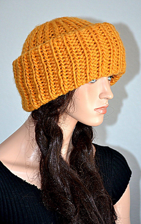 Russian Ushanka Knitted Hat  Handmade Ushanka Turban  Winter Fashion Handmade  Ushanka style Beanie ae39df9930f