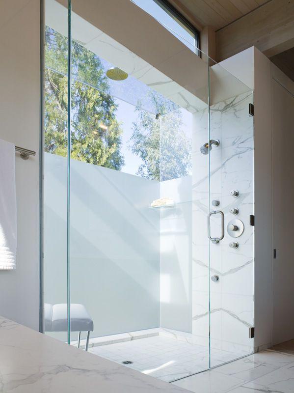 Beautiful Master Bathrooms Exterior in the shower - design chic | beautiful bathrooms | pinterest