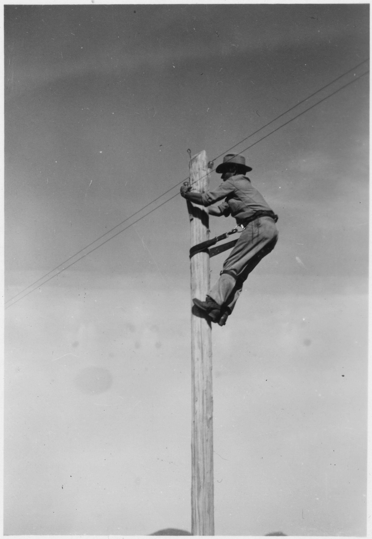 telephone lineman | Ma Bell | Telephone booth, Lineman