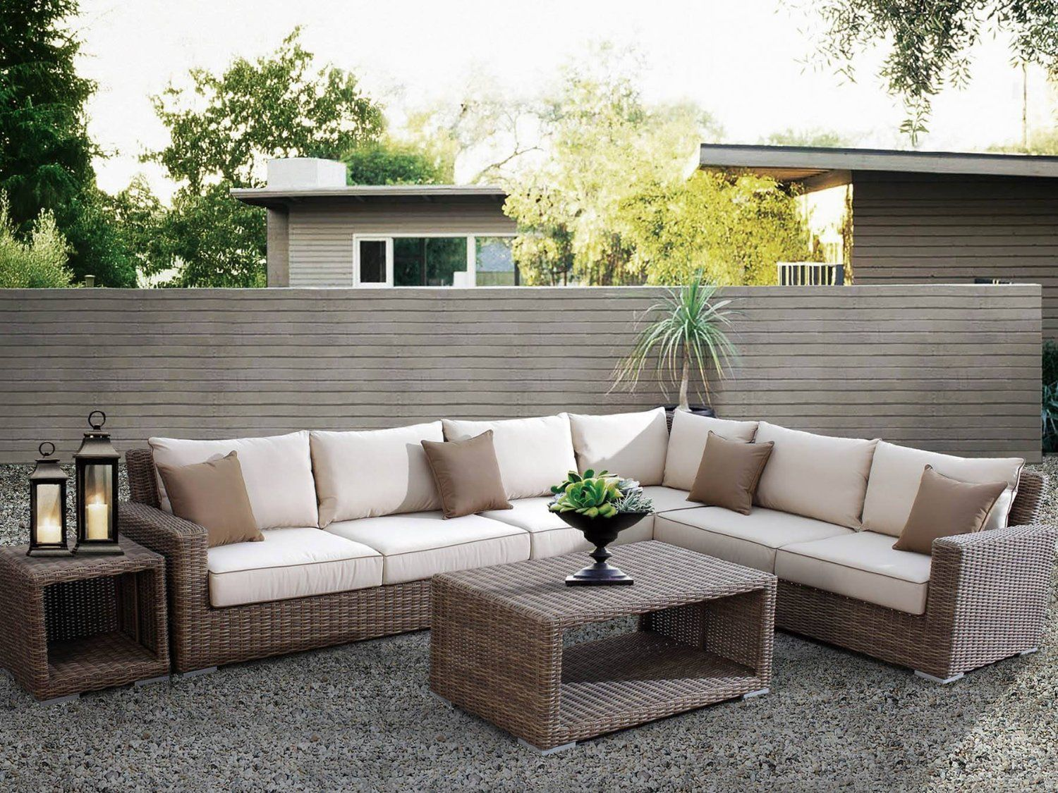 cushions garden set coronado patio w outdoor sofa lawn furniture sunbrella pin wicker seating com sectional resin amazon