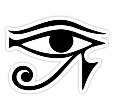 Horus Eye Egyptian Protection Symbol Lucky Charm Horus Eye Sticker By Anne Mathiasz Egyptian Eye Tattoos Horus Tattoo Eye Of Ra Tattoo