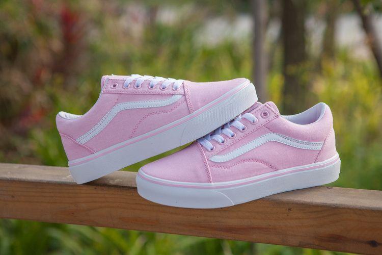 84c223cc05f454 Vans Ice Cream Summer Old Skool Classic Pink White Women Shoes  Vans ...
