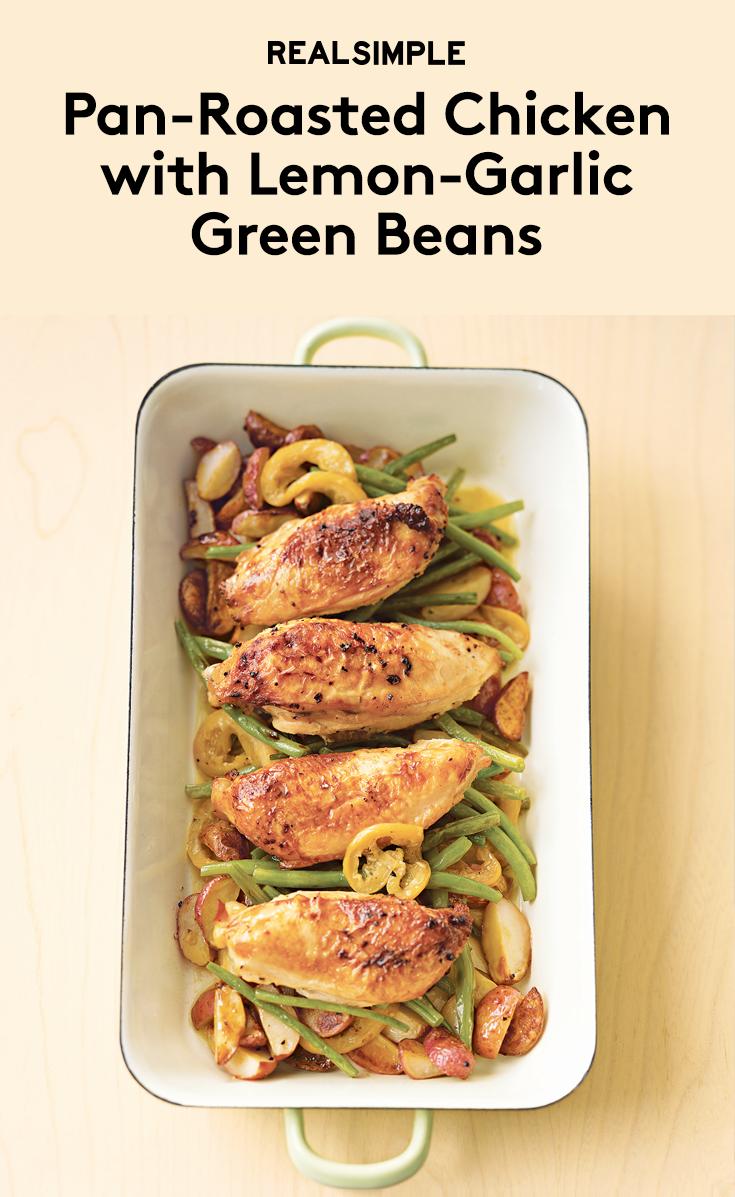 Pan-Roasted Chicken With Lemon-Garlic Green Beans | Recipe ...