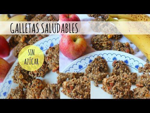 Galletas saludables SIN AZÚCAR y RICAS EN FIBRA - YouTube