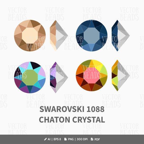 Many Colors Genuine SWAROVSKI 1088 XIRIUS Chaton Round Stones Crystals