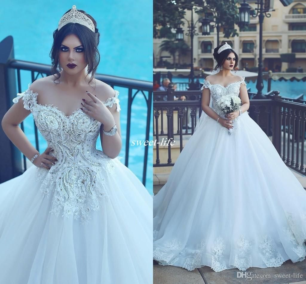 Plus Size Wedding Dresses 2017 Sexy White Bridal Gowns Off the ...