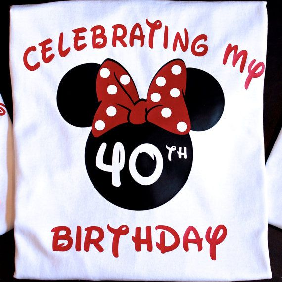 Disney Birthday Shirt Minnie 40th