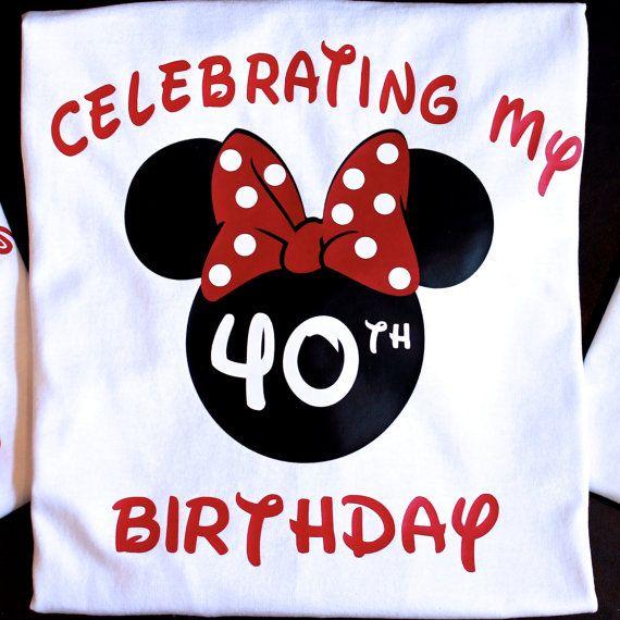 Disney Birthday Shirt Disney Birthday Shirts Minnie