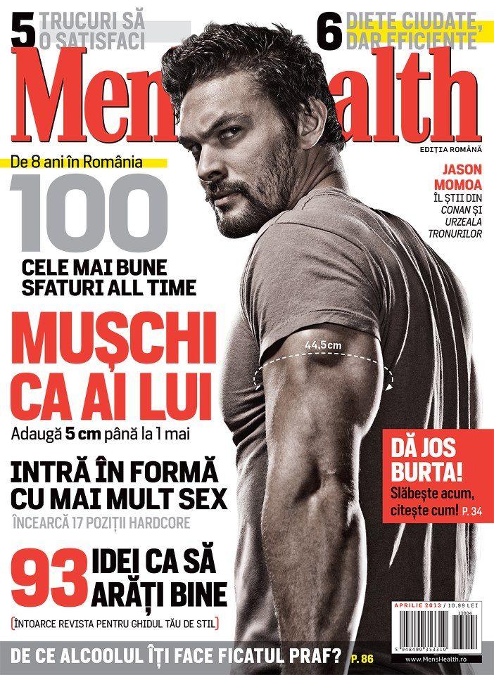 86d36e0d42a Jason Momoa Men s Health magazine cover   Romania   2013 April ...