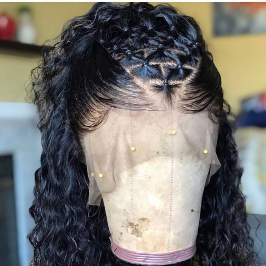 Thriving Hair New Special Wand Curl Brazilian Virgin Hair Lace Front Human Hair Wigs with Baby Hairs [V61-FRONT46]