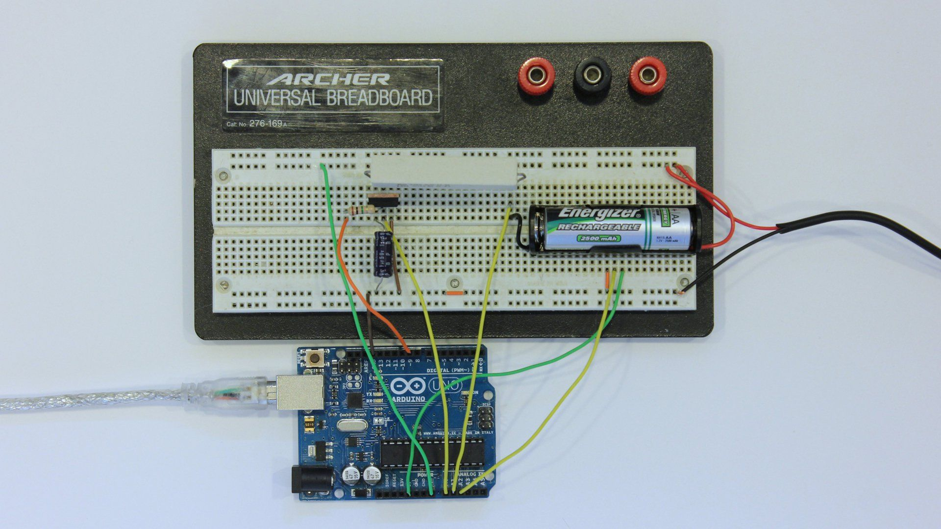 In this project, we use an Arduino and an attached charging circuit ...