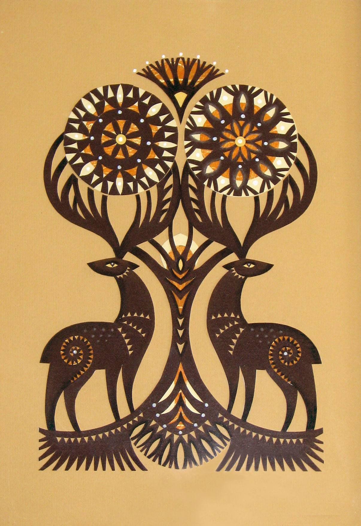 Pin Nicole Jenkins Folk Art Coupages Papier Comment Dessiner