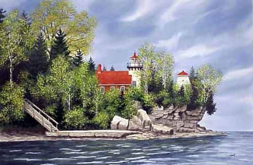 Pin By Beverly Lett On Art And Artists Of Door County Lighthouse Art Door County Lighthouses Art Painting Acrylic