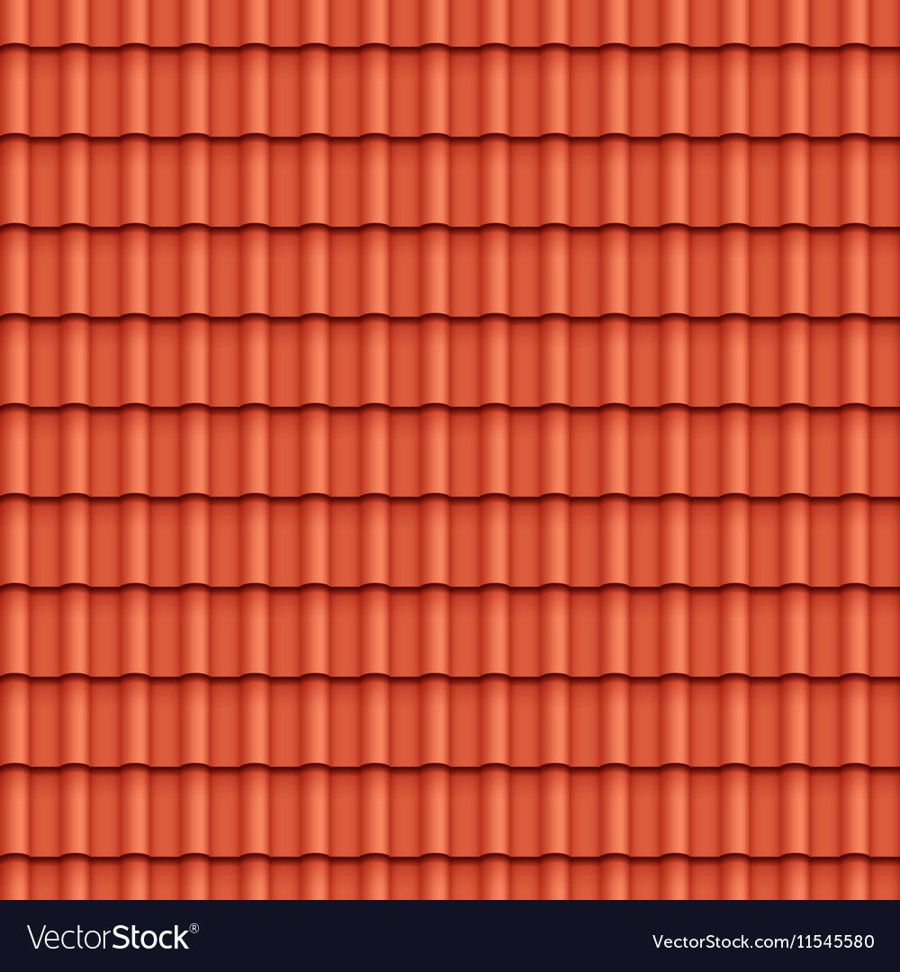 Roof Tile Seamless Pattern Vector Image On Vectorstock Clay Roof Tiles Roof Design Tile Patterns