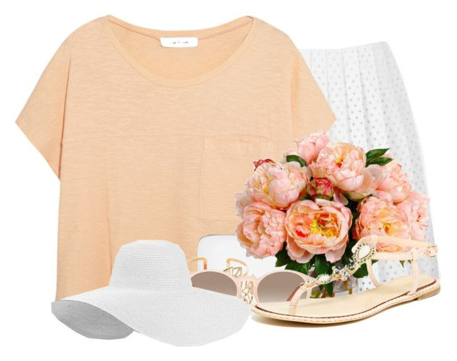 """""""Peach Time"""" by abigaillieb ❤ liked on Polyvore featuring moda, McQ by Alexander McQueen, Elizabeth and James, Rocio, Gemma Simone, GlassesUSA y Modern Rush"""