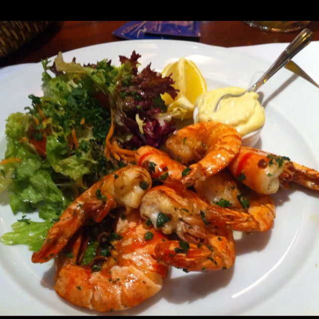 Grilled shrimp @ Brussels / Bruxelas