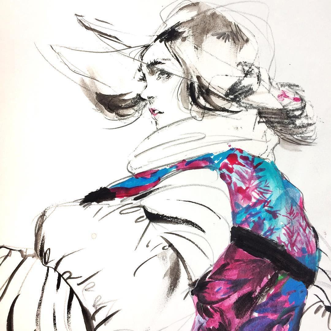 Some old uni stuff popping up 🙌🏻 #fashiondrawing #fashionillustration #connielim #art #fashion #illustration