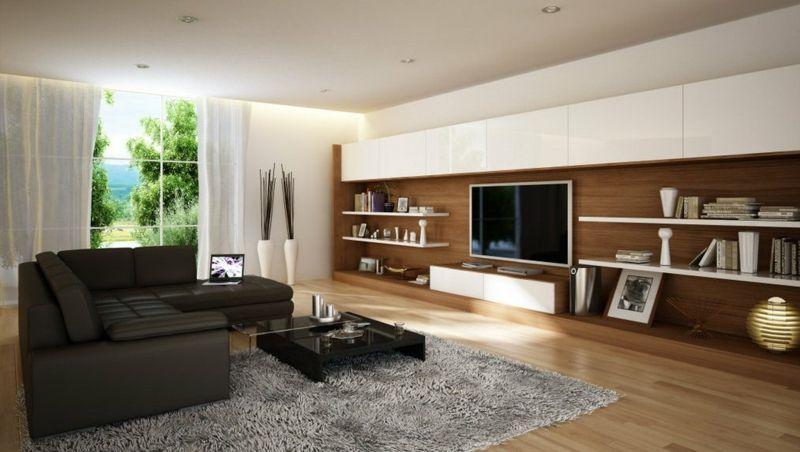Wohnzimmereinrichtung Ideen – Brauntöne sind modern | Wohnen | Pinterest