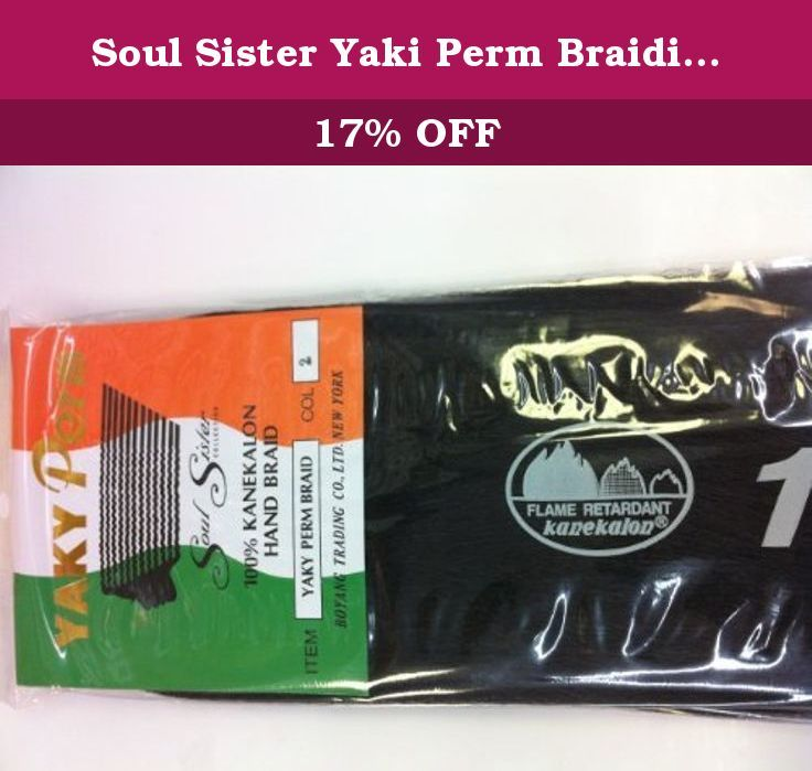 Soul Sister Yaki Perm Braiding Hair Yaki Perm For Braiding 1b
