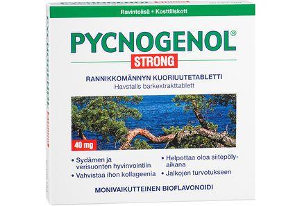 Pycnogenol Strong -tehokas luonnon superantioksidantti 60 tabl. Ylläpitää hyvää verenkiertoa, torjuu raajojen turvotusta ja vahvistaa ihon kollageenia.