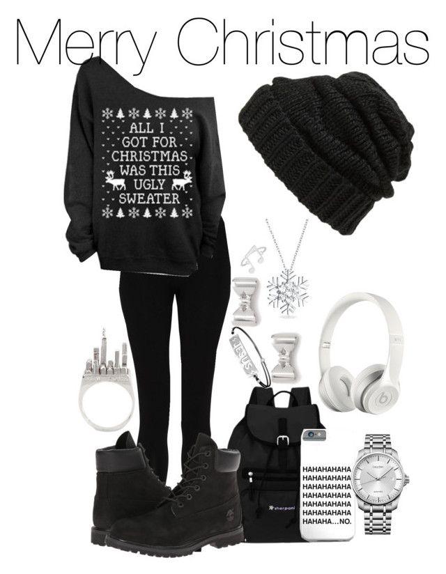 """Merry Christmas "" by misfit4life13 on Polyvore featuring Sherpani, M&S Collection, Timberland, Leith, Calvin Klein, Beats by Dr. Dre, Anello, Marc by Marc Jacobs and Bling Jewelry"