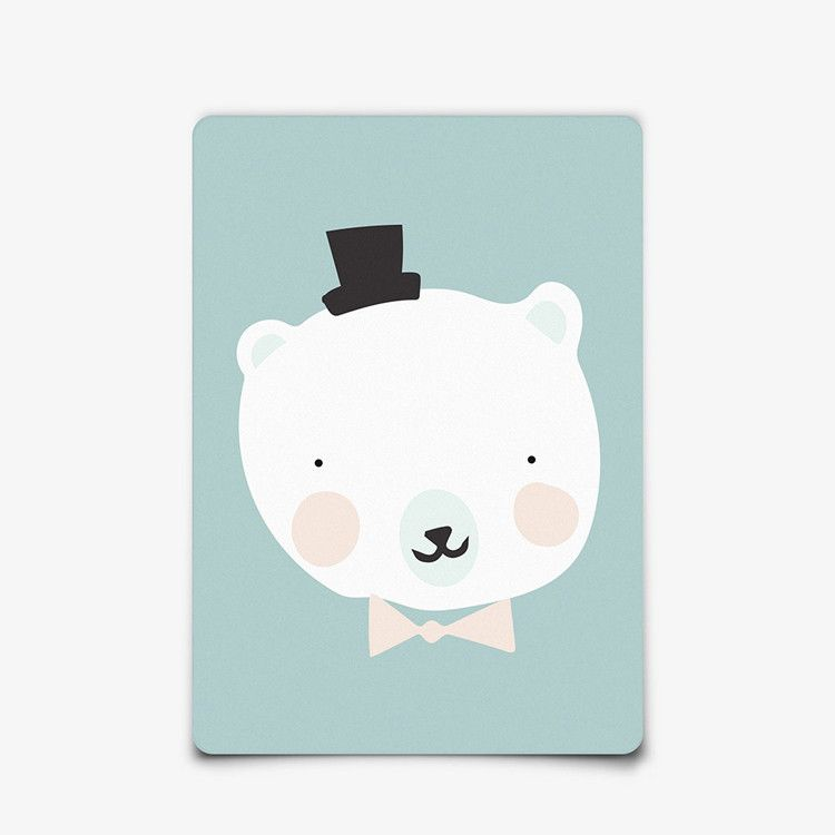 Postkaart mini print van Eef Lillemor / Mr Polar