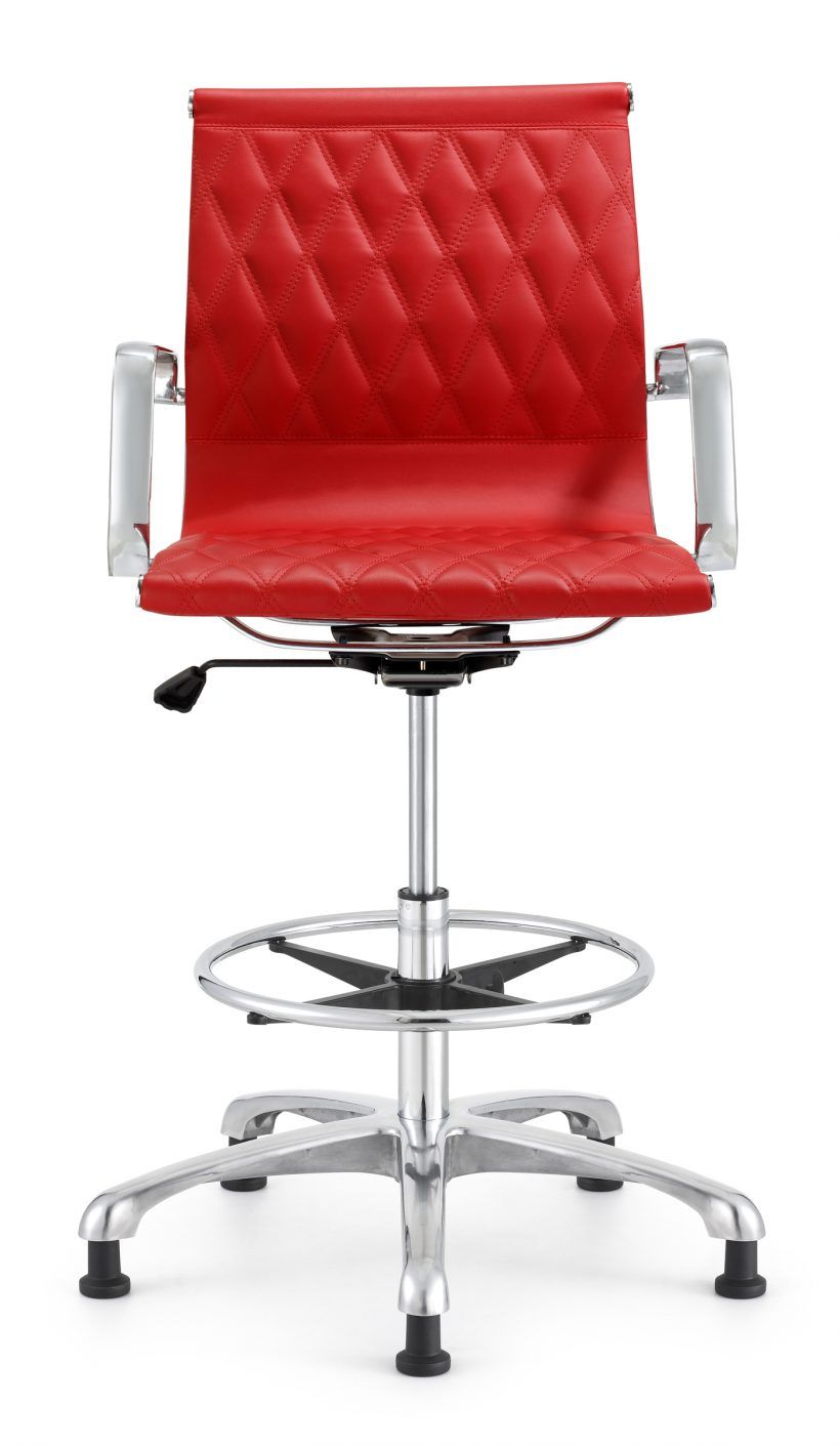 Terrific Chair Red Retro Italian Design Drafting Stool Office Chair Dailytribune Chair Design For Home Dailytribuneorg
