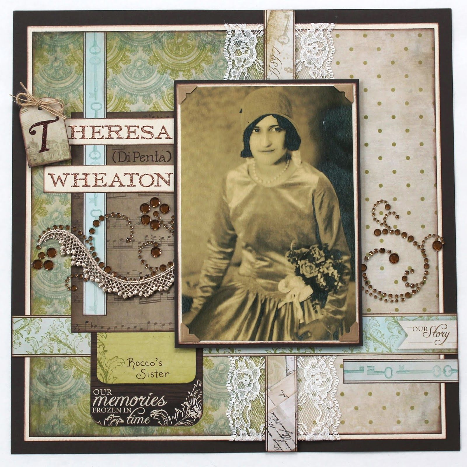 Scrapbook ideas history projects - Scrappy Chick Designs The Dipenta Project Part 1 Heritage Scrapbookingscrapbooking Ideasribbon