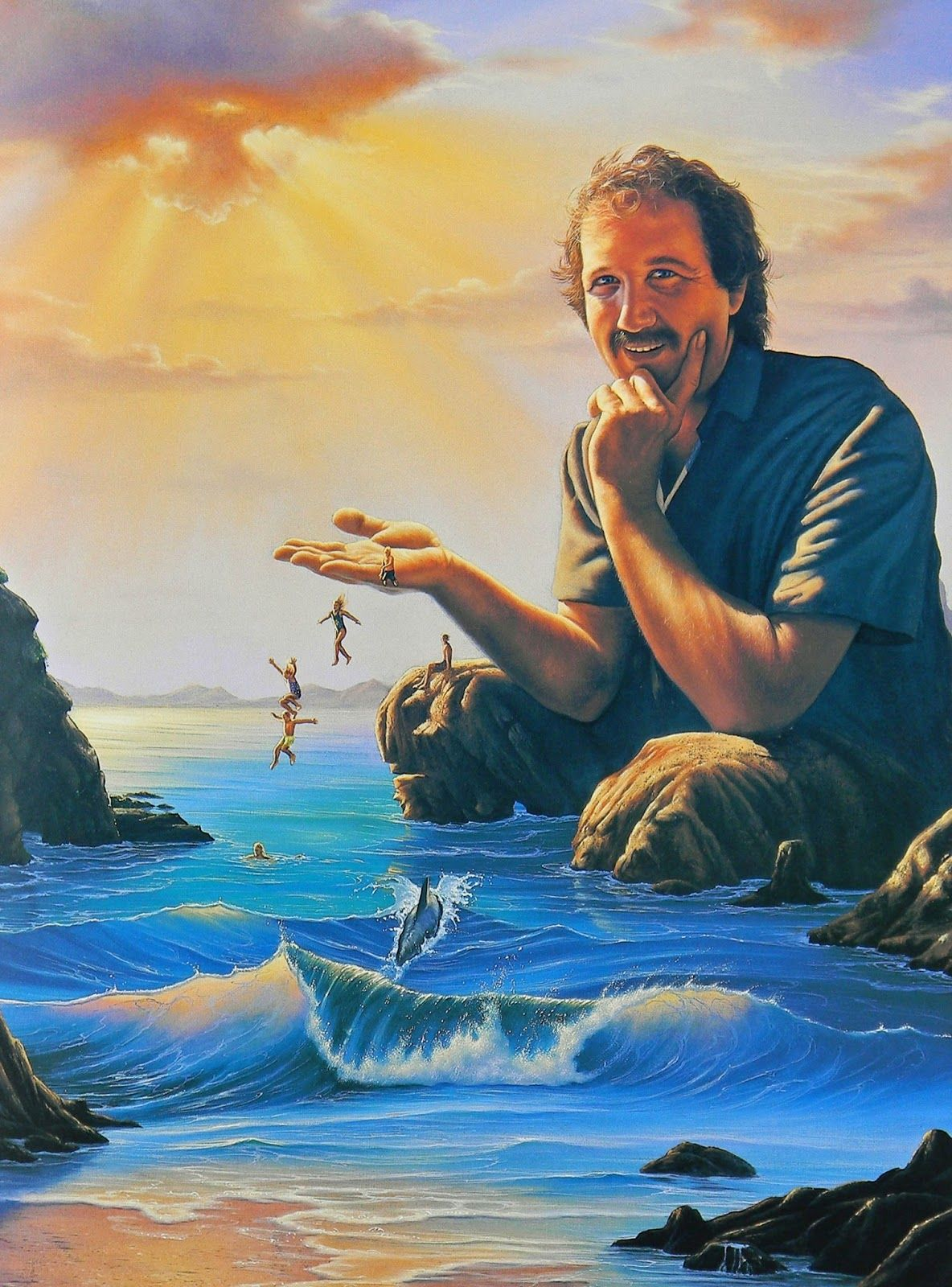 * Jim Warren - - - Trapped in a Jim Warren Painting