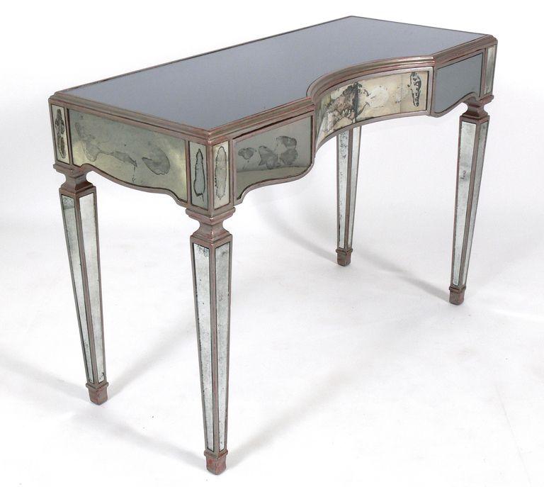 Antique Mirrored Desk - Antique Mirrored Desk Better Mirrored Desks Pinterest Mirror