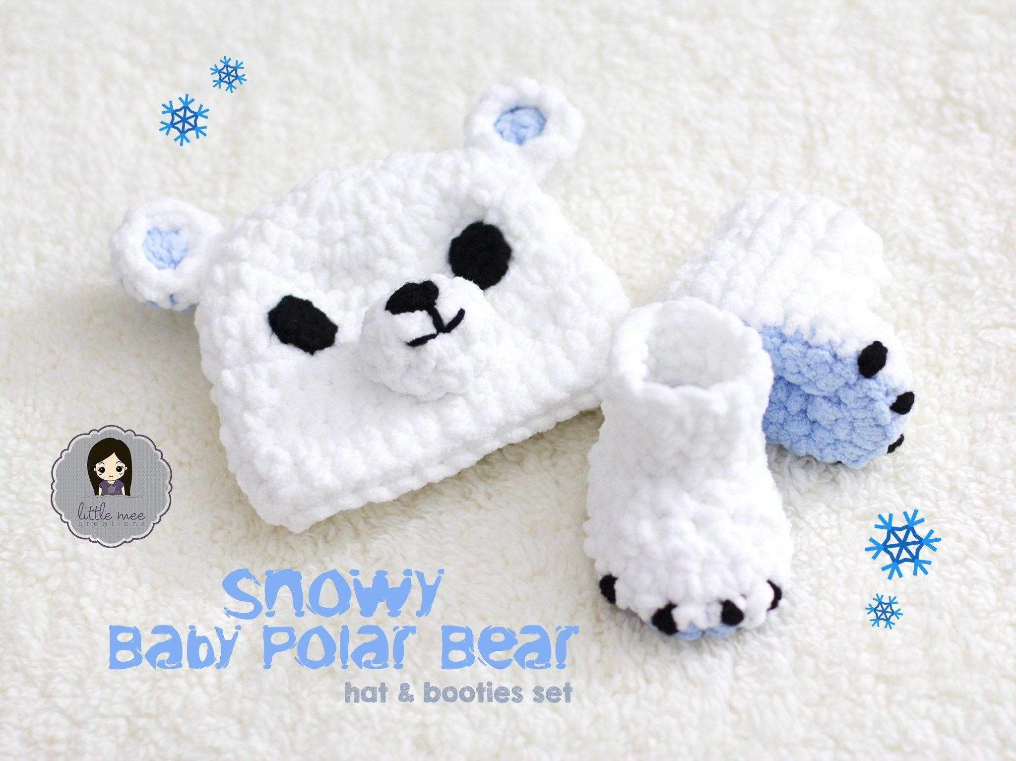 Snowy baby polar bear crochet pattern by little mee creations baby snowy baby polar bear crochet pattern by little mee creations dt1010fo