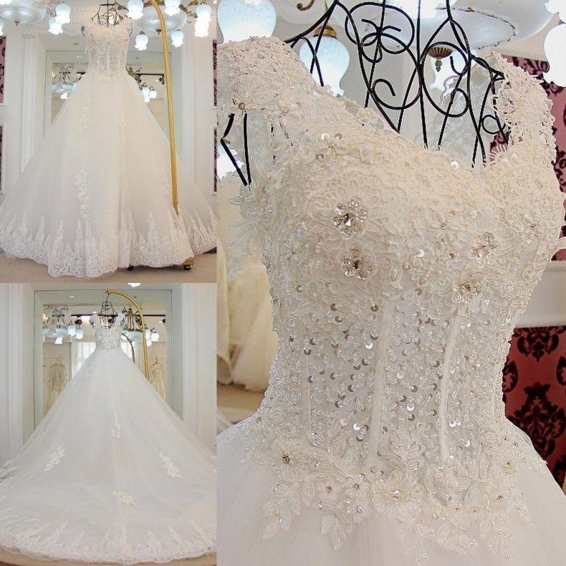 Novo vestido de noiva branco/marfim de renda vestido de noiva customizado tamanho 4 6 8 10 12 14 16 18+ | Roupas, calçados e acessórios, Casamentos e ocasiões formais, Vestidos de noiva | eBay!
