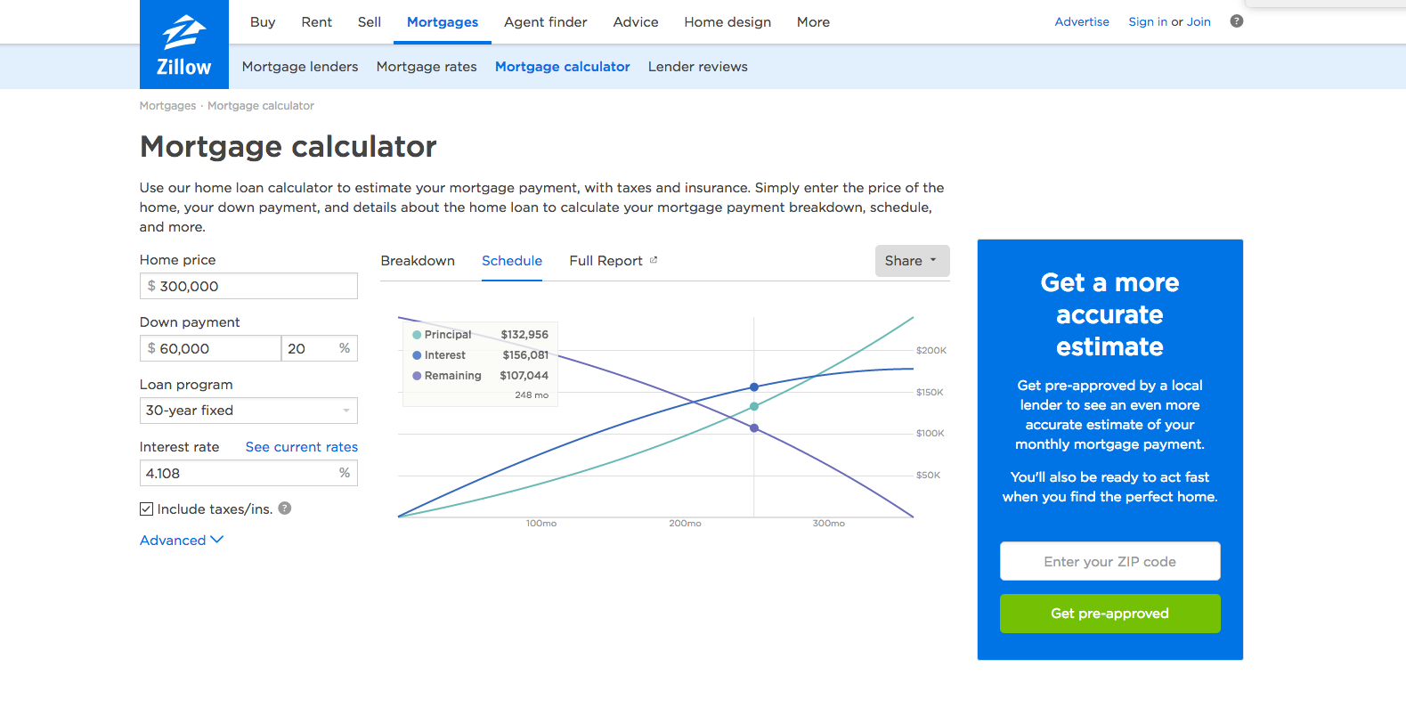 Zillow Mortgage Calculator HttpsWwwZillowComMortgage