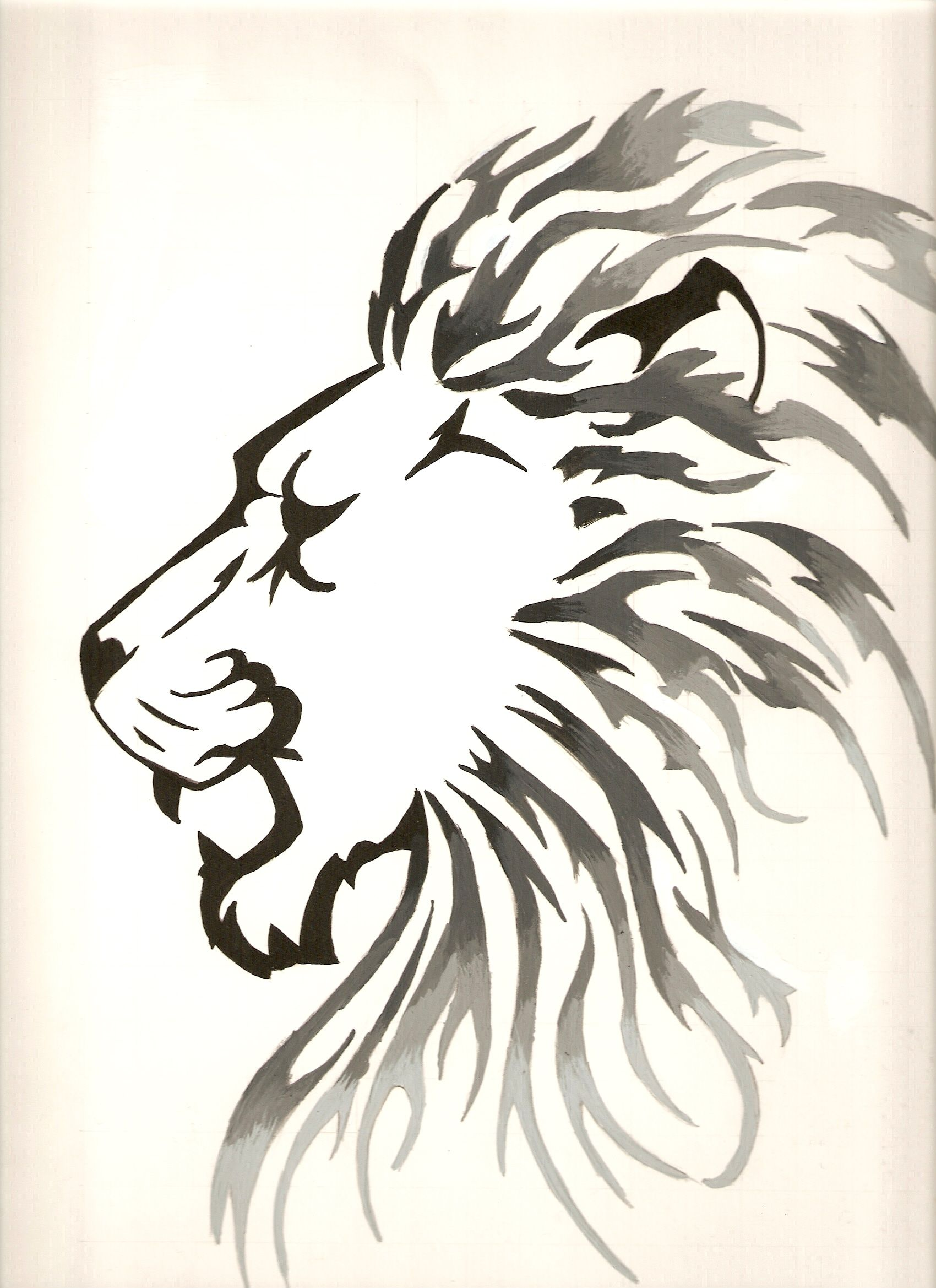 Black And White Lion By Silvorus Deviantart On