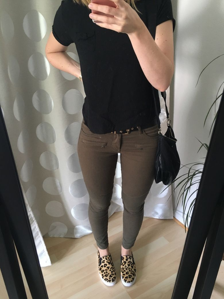 Leopardenmuster Slip Ons Outfit