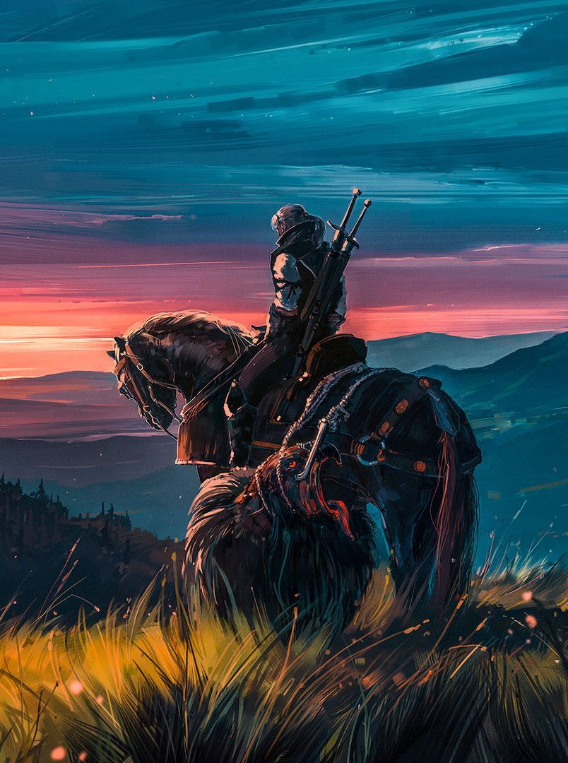 Beyond Hill And Dale In 2020 The Witcher Wild Hunt The Witcher Geralt Witcher Art