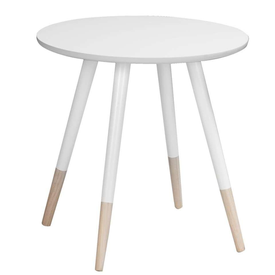 Bijzettafel Keuken Wit.Bijzettafel Singapore Wit Naturel Leen Bakker Furniture