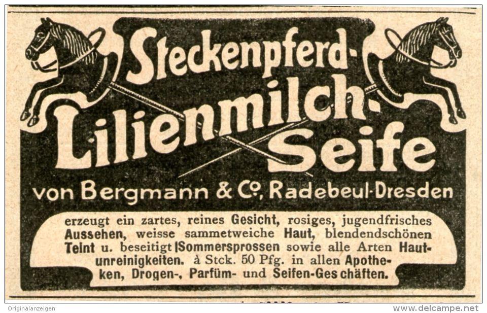 Original-Werbung/Inserat/ Anzeige 1905 - STECKENPFERD LILIENMILCH-SEIFE  - ca. 55 X 80 mm