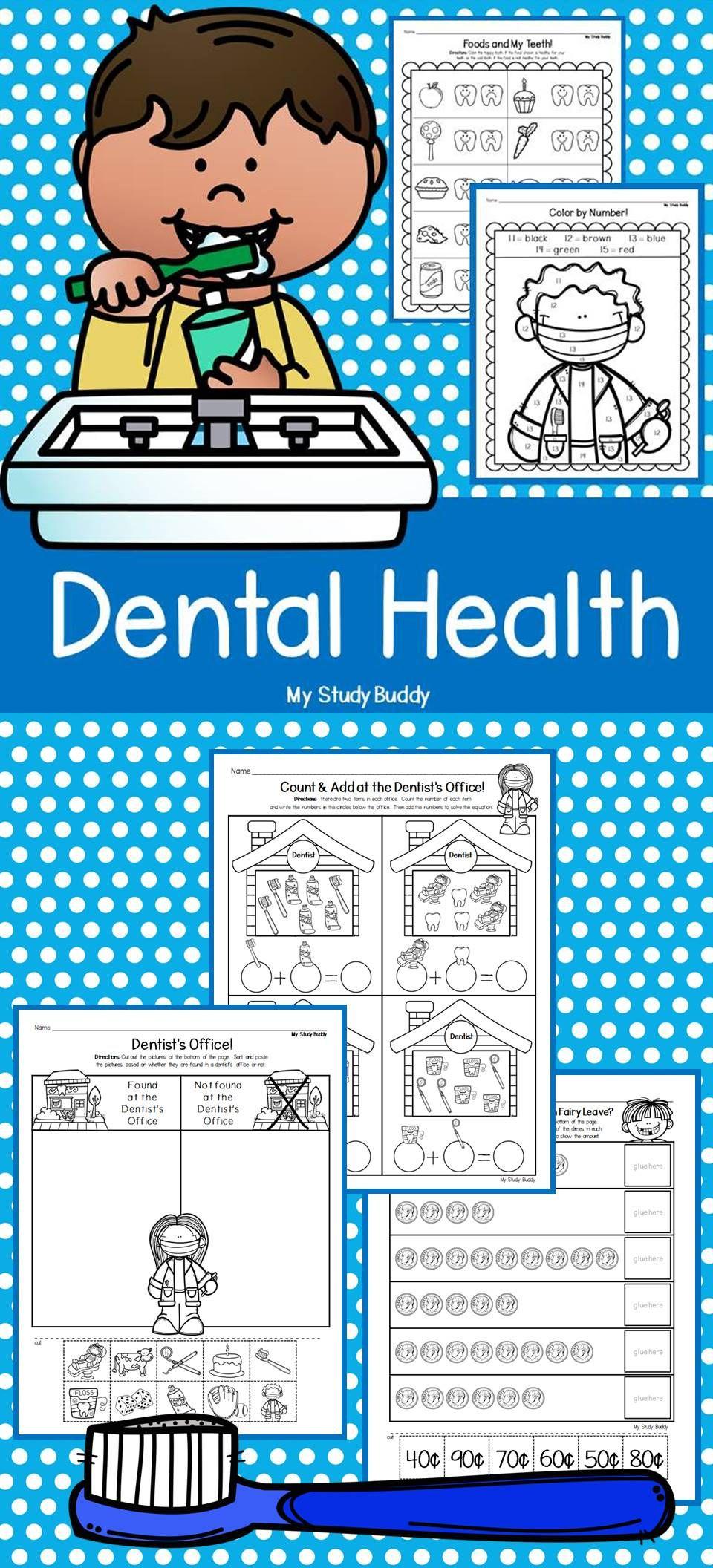 Dental Health Activities (Dental Health Worksheets, February ...