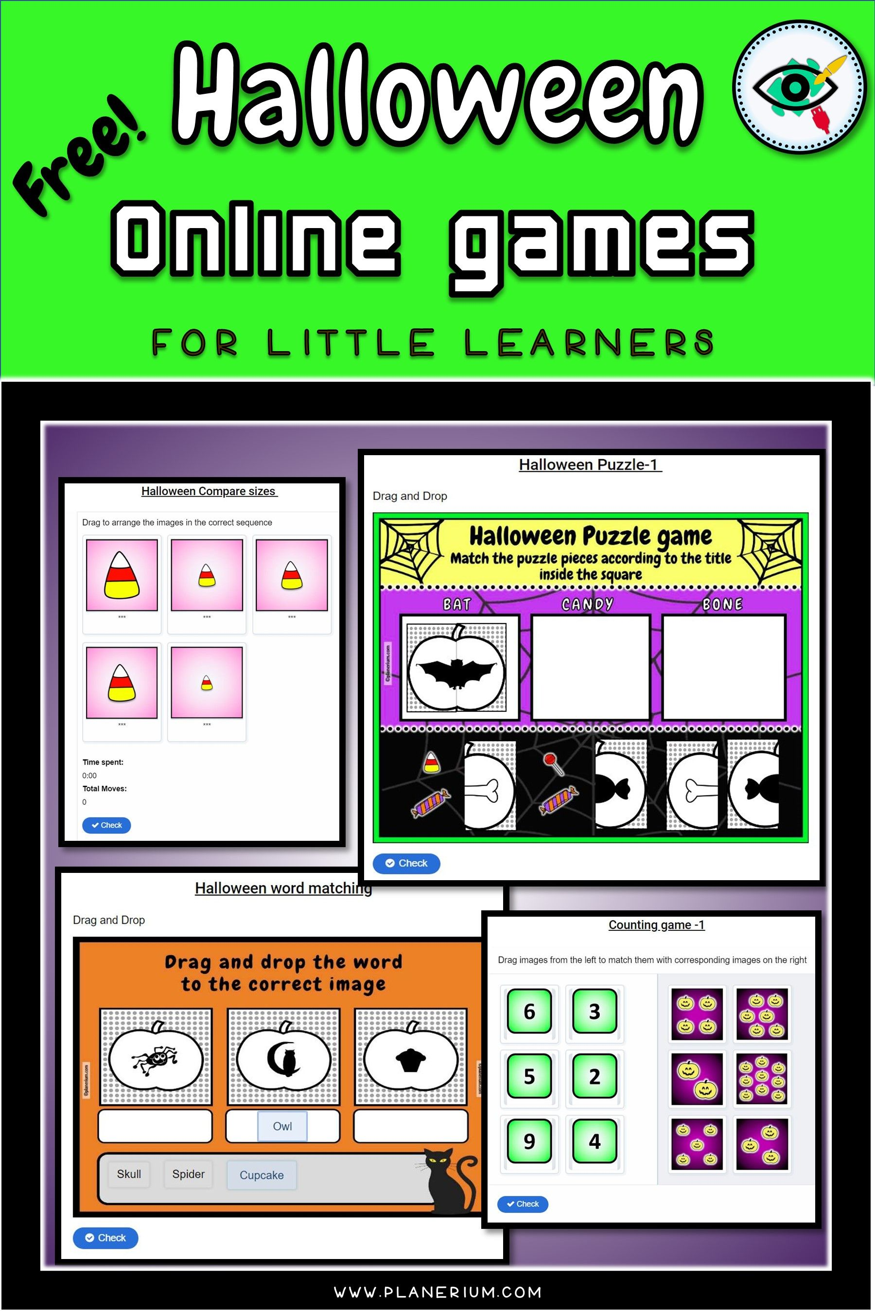 Free Fun Educational Halloween Online Games For Little Learners