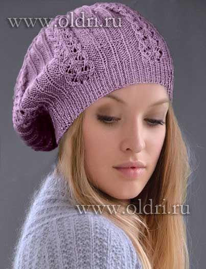 Схемы вязания шапок осенних